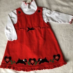 Baby Girl Corduroy Dress, Red 12 Months